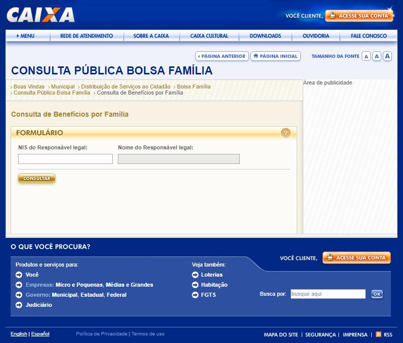 Consulta Caixa se Bolsa Família foi Aprovado
